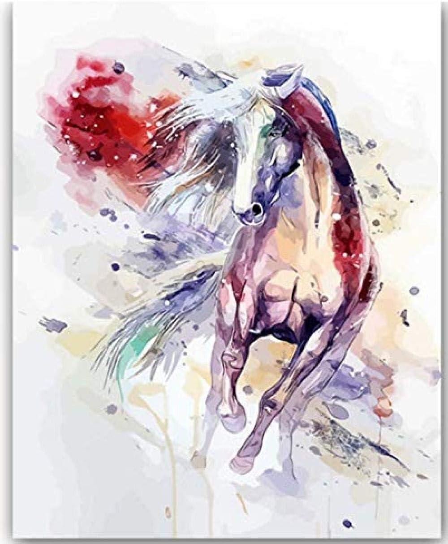 Arte Murale Libro Para Colorear Cuadros Por Números Con Colores Cuadro De Caballo De Color Dibujo Pintura Por Números Página De Inicio 40X50Cm Navidad