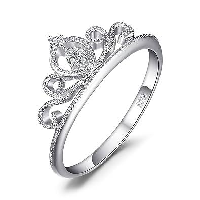 328699a8a56b JewelryPalace Anillo con Circonita en forma de Corona en plata de ley 925   Amazon.es  Joyería