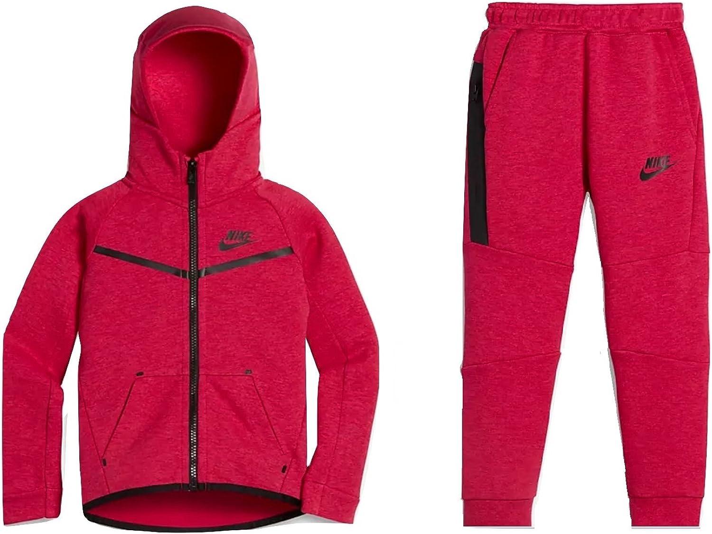 Amazon Com Nike Baby Girl S Tech Fleece 2 Piece Toddler Set Rush Pink 76b400 A5l Ne Us 2t Clothing