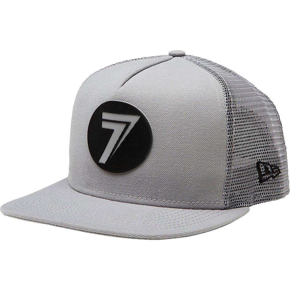 Seven Dot Mesh Snapback Hat-Gray/Black