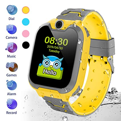 HuaWise Kids Smartwatch[SD Card Included], Waterproof Smartwatch for Kids with Quick Dial, SOS Call, Camera and Music Player, Birthday Gift Game Watch ...