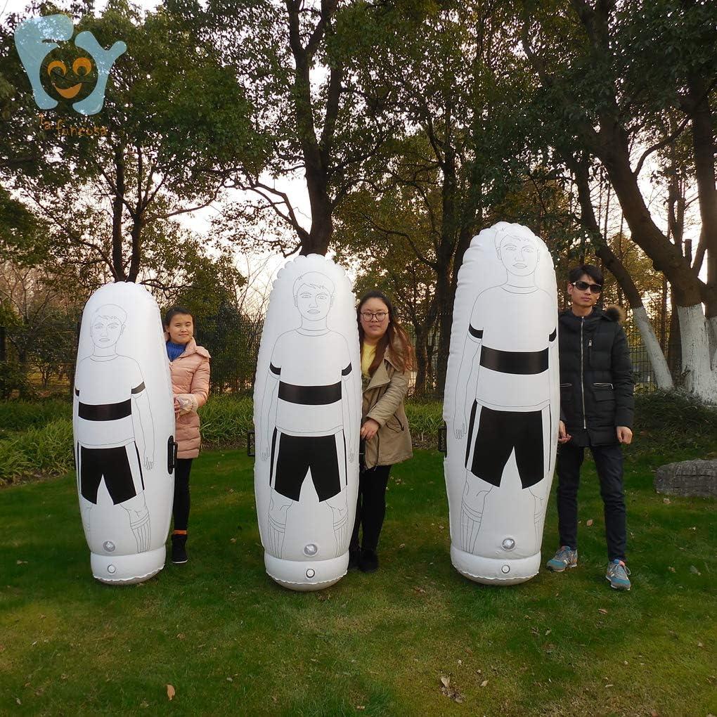 79 71 63 Adult Children Soccer Training Equipments Inflatable Soccer Dummy Turf Foldable Goalkeeper Defender Wall Air Body Mannequin