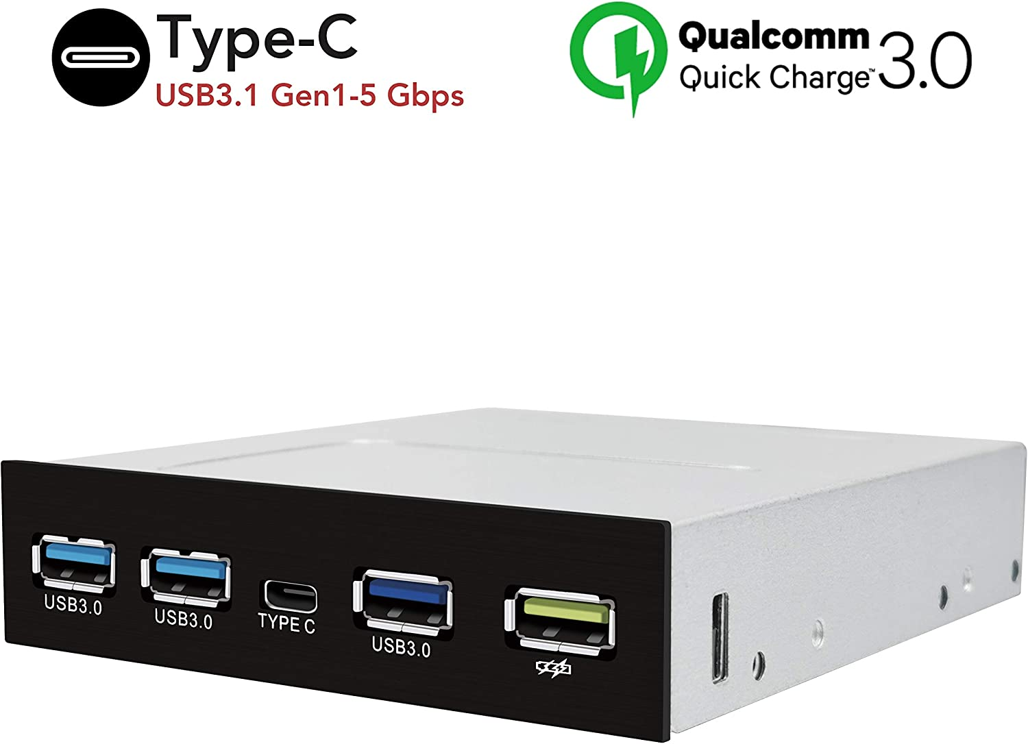 PCIe X4 4 Port USB 3.1 Gen 1 Adapter Real 5Gbps per Port, Total throughput = 20 Gbps Sedna 5Gbps