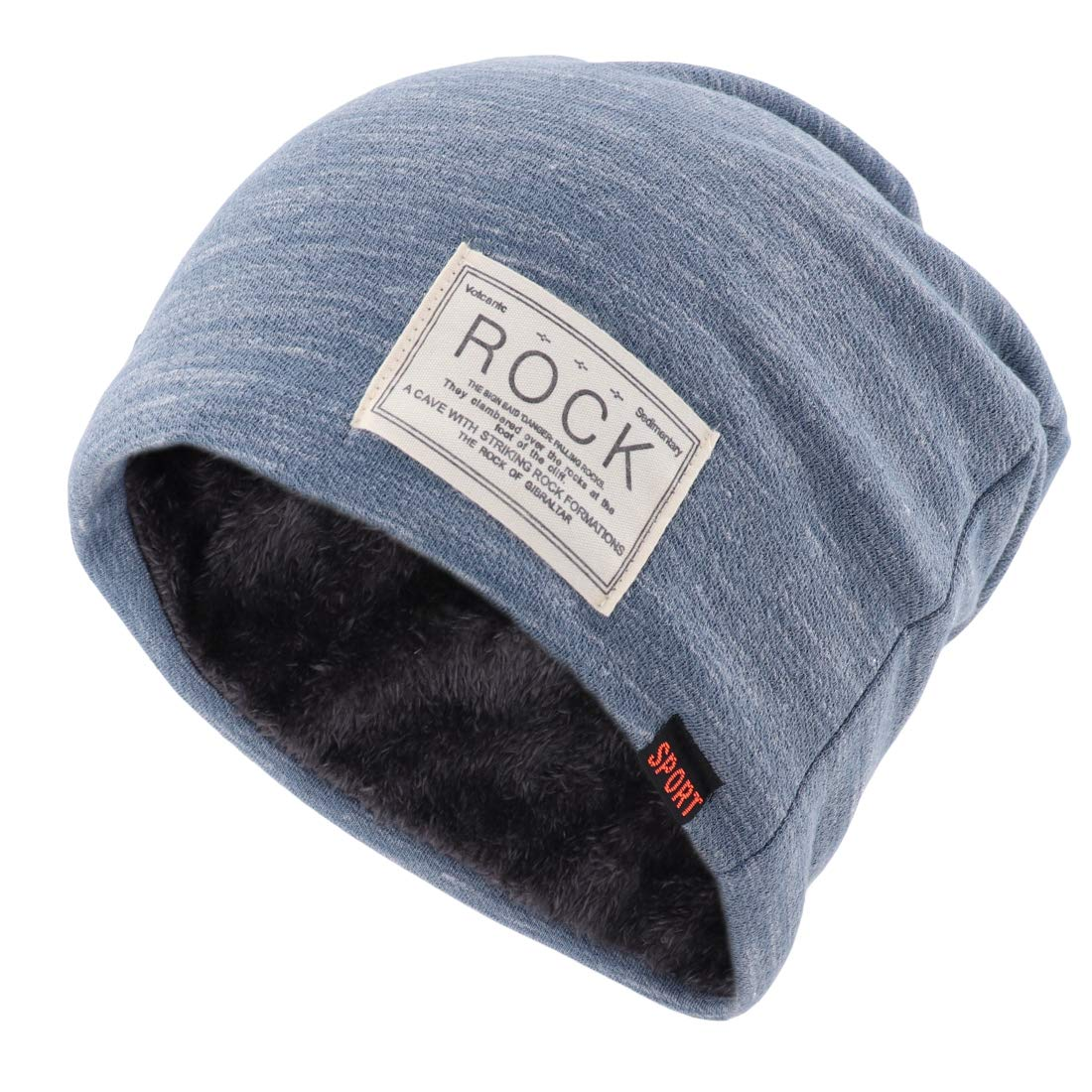 4312b4eb517 Gisdanchz Blue Knit Beanie Baggy Beanie Mens Hipster Sports Winter Outdoor  Soft Warm Toboggan Woolen Baggy