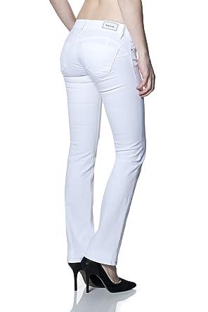 ad07018a00 Salsa - Jeans Push Up Wonder avec Coupe Droite - Femme - Blanc ...