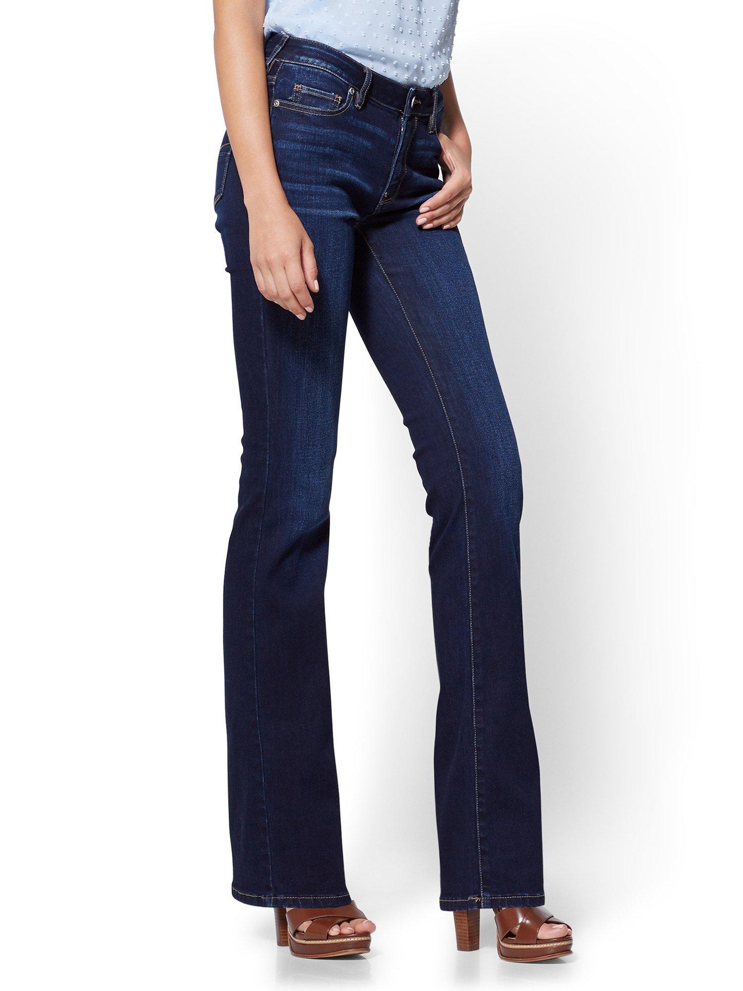 New York & Co. Women's Soho Jeans - Petite Curvy Bootcut 4 Blue Tease Wash