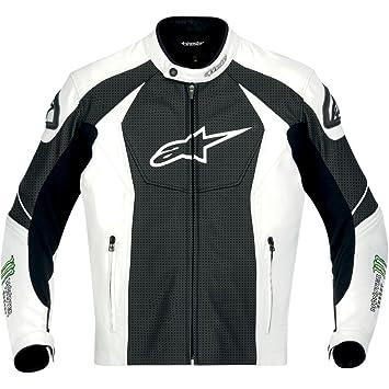 Alpinestars GP-M perforado con una chaqueta de cuero: Amazon.es: Coche y moto
