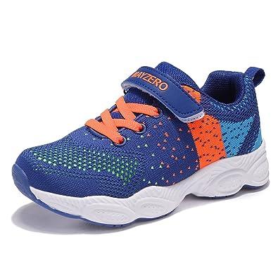 b3e03d89f7031 Chaussure de Sports Basket Mixte enfant Tennis Running Basses Mesh Sneakers pour  Fille Garcon (26