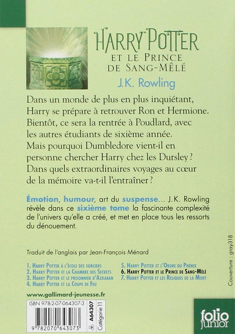 Buy Harry Potter Et Le Prince De Sang Mele Folio Junior Ed Harry