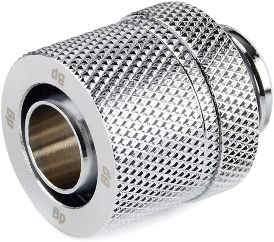 4-Pack CC2 Ultimate Silver Shining 1//2 OD Compression Fitting for Soft Tubing Bitspower G1//4 to 3//8 ID