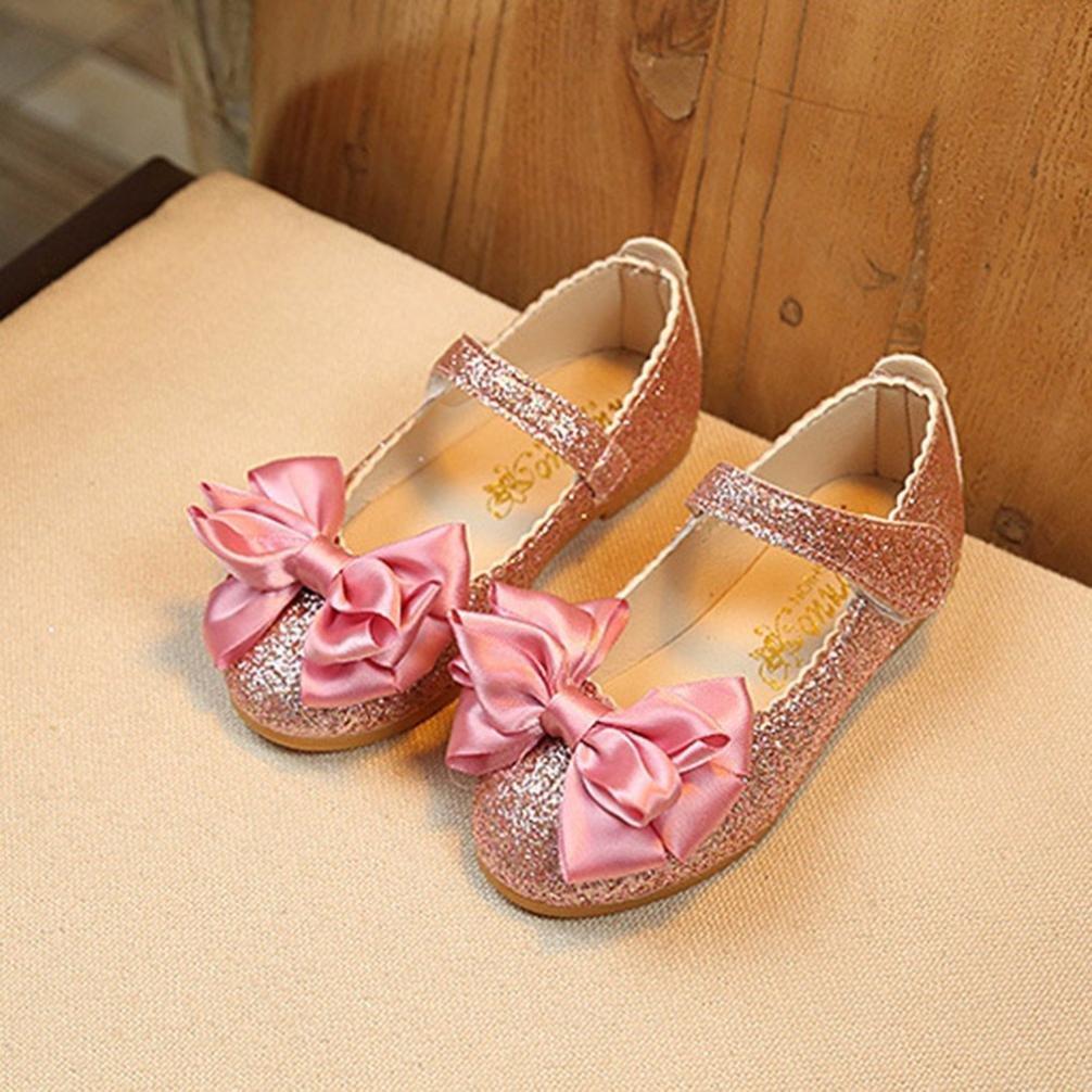 Familizo_Baby Shoes Sandalias de vestir para niña negro rosa 23: Amazon.es: Jardín