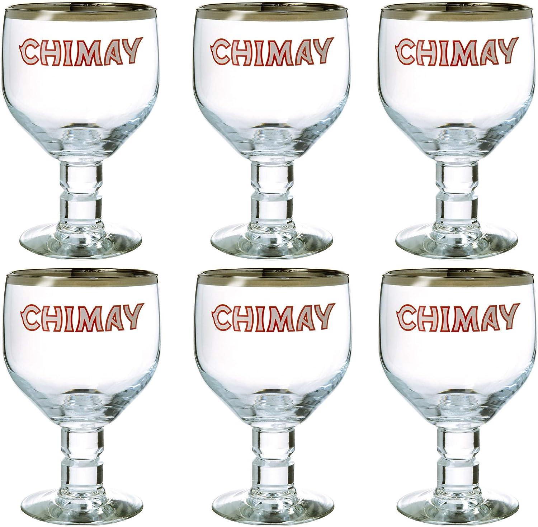 Chimay Belgian Ale Goblet/Goblet Beer Glasses 0.33l - Set of 6 by