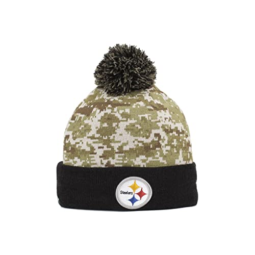 reputable site 6218e 0ca08 ... sweden new era mens nfl 2015 pittsburgh steelers salute to service knit  hat e8b64 a5841 ...