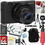 Sony Cyber-Shot DSC-RX100 Digital Camera + 64GB SDXC Memory Dual Battery Kit + Accessory Bundle