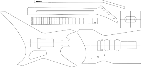 Amazon Com Electric Guitar Layout Template Warrior Office Products