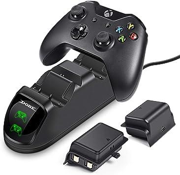 ECHTPower - Estación de carga para mando de Xbox One (2 baterías de 1200 mAh para mando