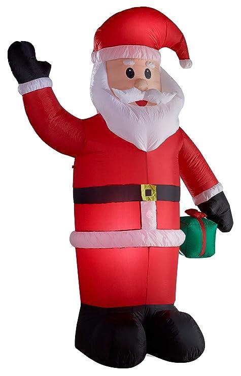 Babbo Natale Babbo Natale.Gartenpirat Illuminato Babbo Natale Gonfiabile Led Altezza Di 240