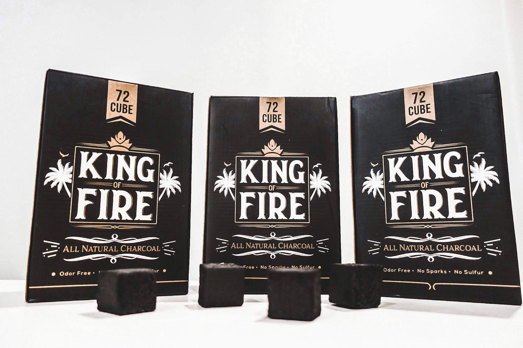 King of Fire Natural Coconut Hookah coals