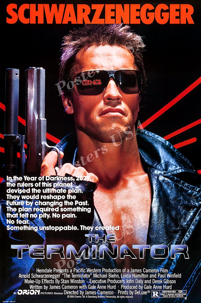 "Posters USA - Terminator Original Movie Poster GLOSSY FINISH - MOV084 (24"" x 36"" (61cm x 91.5cm))"