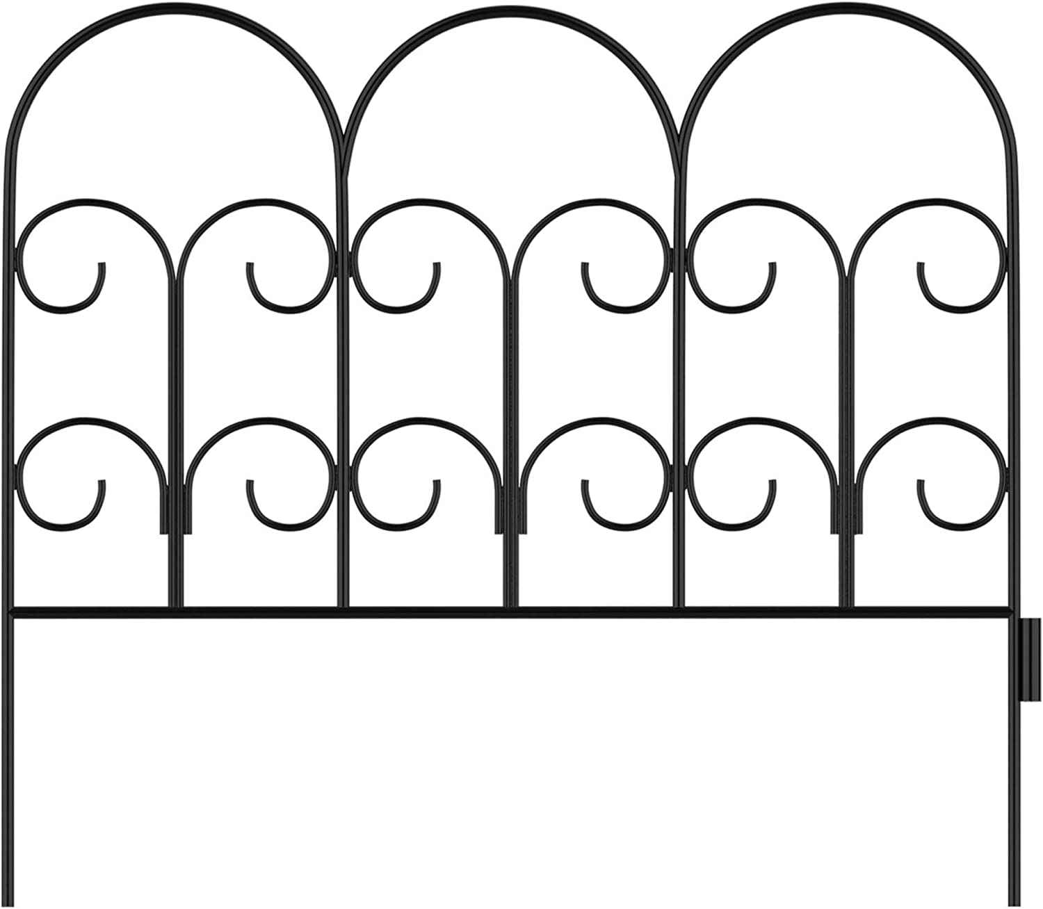 Pure Garden 50-LG5058 Metal Garden Fencing-Set of 5 Panels, Black
