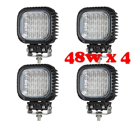 214189d4f Tanli 4 X 48 W Led Flood Foco Lampara de coche Faros de trabajo led Luces  diurna ...
