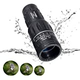16x52 Dual Focus, OUTERDO Monocular Telescope Camping Wildlife Hunting Surveillance Traveling BAK4 Prism Scope with Durable Tripod and Cellphone Adapter Waterproof Monocular Optics Zoom Bright