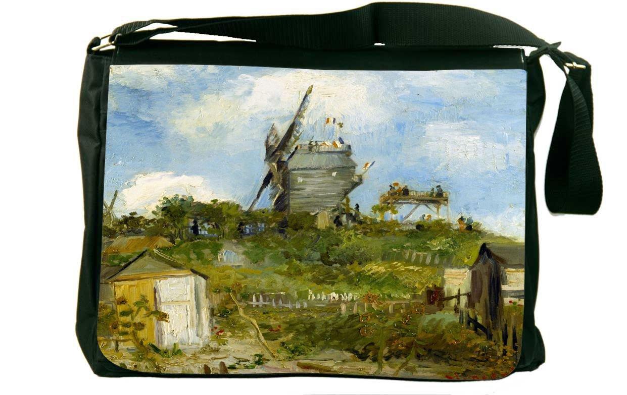 Rikki Knight Van GoghアートBlut Fin風車メッセンジャーバッグスクールバッグ B01IJCVM9I