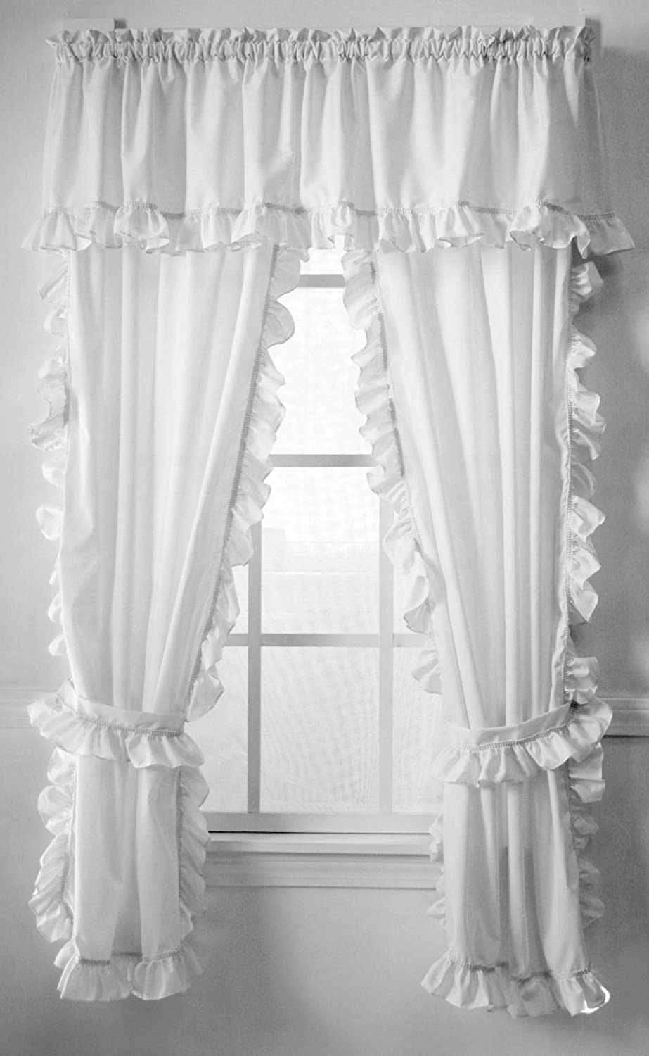 Amazon Classic White Cape Cod Ruffle Valance Home Kitchen