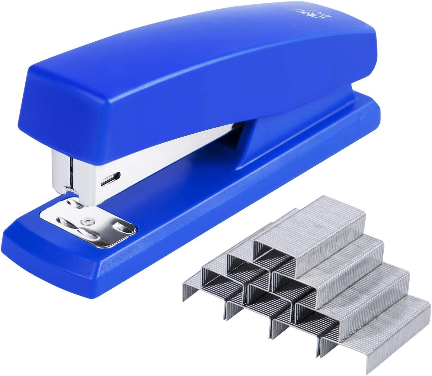Desktop Staplers with 640 Staples 25 Sheet Capacity Office Stapler Blue Deli Stapler