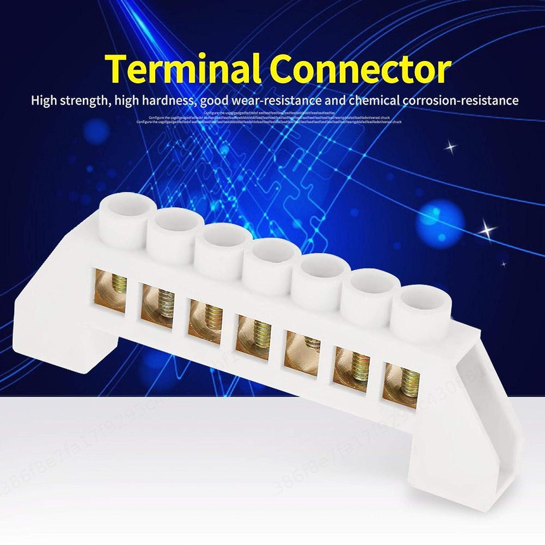 PRINDIY 10pcs 7-Hole Bridge Design Bloques de terminales Conectores Bloque de terminales Distribuci/ón el/éctrica Tornillo de Alambre Lat/ón