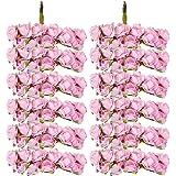 144pcs Ramo Rosa Artificial Flor Papel Decoración para Hogar Boda (rosado)