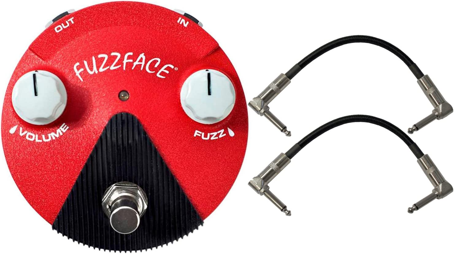 2 MXR CABLES Jim Dunlop Jimi Hendrix Band of Gypsys Mini Fuzz Face FFM6