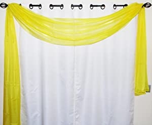 GorgeousHomeDifferent Colors 1 Elegant Scarf Valance Swag Voile Sheer Curtain Window Topper Dressing 216