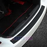 EJ's SUPER CAR Rear Bumper Protector Guard Universal Black Rubber Scratch,Resistant Trunk Door Entry Guards Accessory…