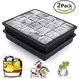 Hepooya 2 Stück Eiswürfelform, Silikon Eiswürfelformen, Chill Eiswürfelform, Eiswürfelbereiter, Silikonform ohne BPA, für insgesamt 40 (2x20) – 2.5cm Würfel Eiswürfel