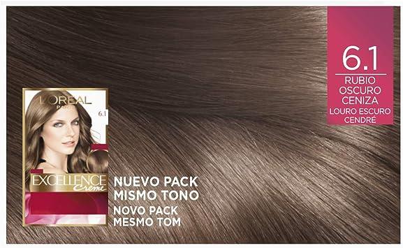 LOréal Paris Excellence Creme Tinte Tono 6.1 Rubio Oscuro Ceniza - 50 ml