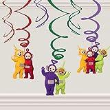 """Amscan International 9901204 - Decoración con espirales y figuras de los""""Teletubbies"""""""