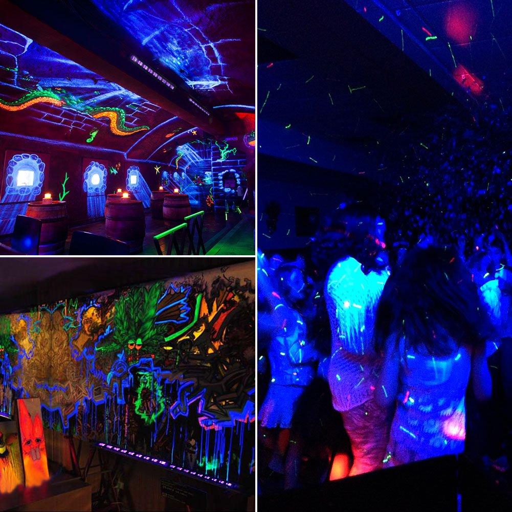 Part Shop Glow Tail Lights: Black Light LED UV Bar Glow Dark Party Supplies Birthday