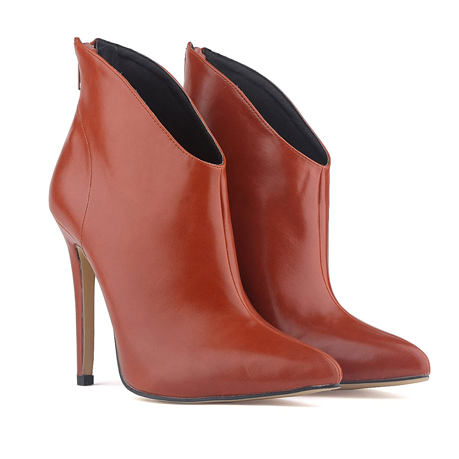 YH Women's Pointy Ankle High Boots Stiletto Shoes High Heels