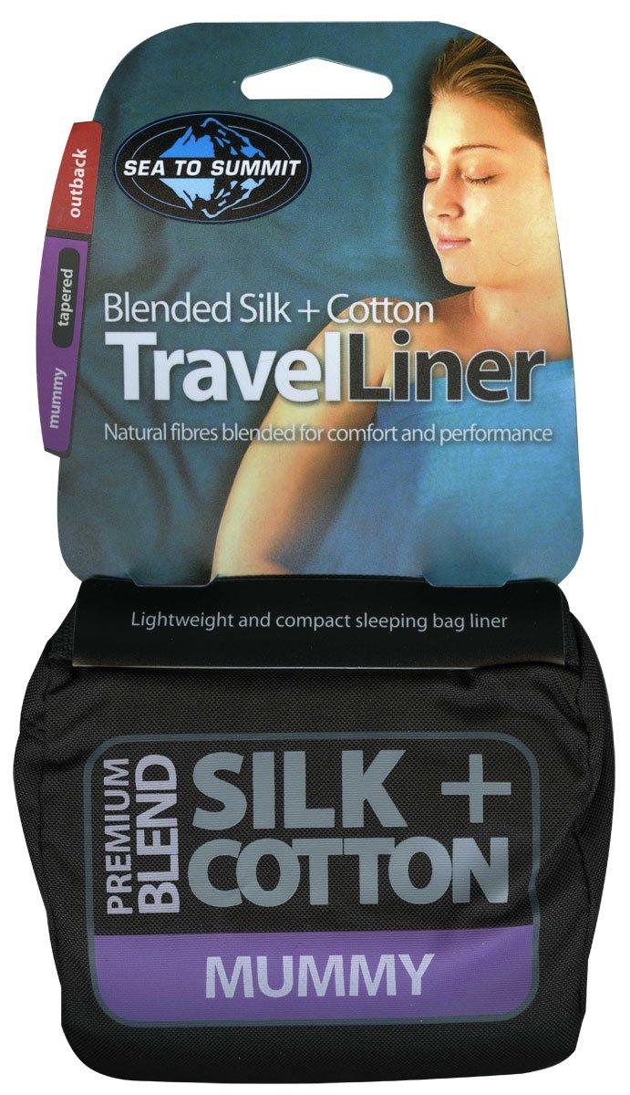 Sea to Summit - Silk+Cotton Travel Liner, Color Navy, Talla 185 x 92 cm: Amazon.es: Deportes y aire libre