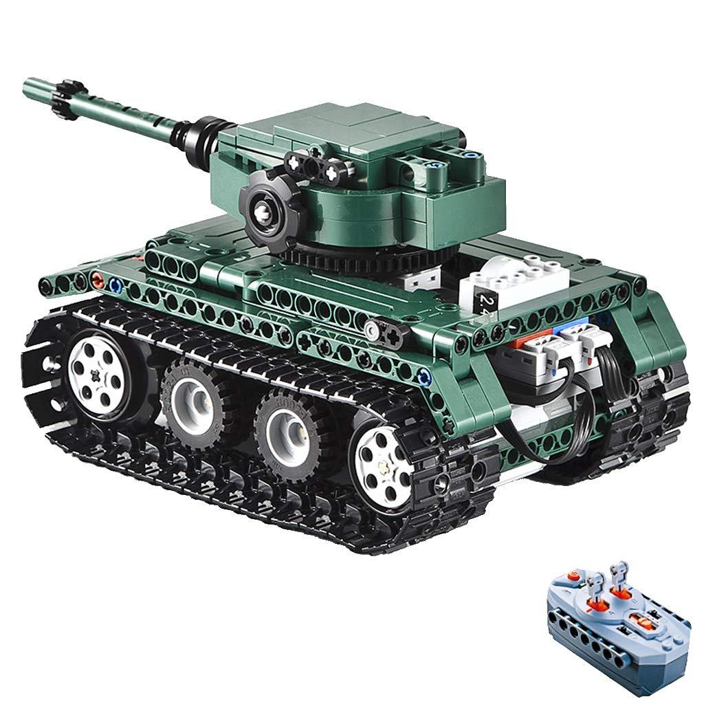 FLAMEER Kinder Spielzeugauto Wiederaufladbar RC Auto Ferngesteuerte Fahrzeuge Roadster   Kipper   Tank   Militär LKW   Rennwagen mit 2,4 GHz Fernbedienung - Tank B07MDFKL9B Fahrzeuge Mode-Muster | Clearance Sale