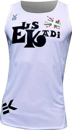 EKEKO SPORT Camiseta EUSKADI Tirantes para Running, Color Blanca: Amazon.es: Deportes y aire libre