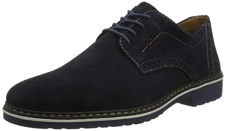 Rieker 16501-14 Obermaterial Leder, Zapatos de Cordones Derby para Hombre