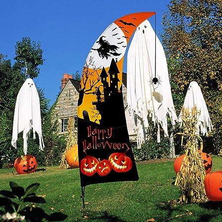 Halloween Deko 7 Fuss Swooper Flagge Feder Fly Strick Polyester Aussen Dekoration Halloween Horrible Karneval Party Dekorations Fur Draussen Garten Hof Amazon De Garten