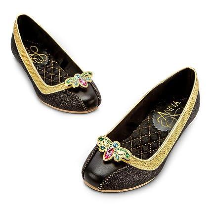 2e13330fc2f Amazon.com  Disney Store Frozen Princess Anna Deluxe Coronation Costume  Shoes Size 2 3  Toys   Games
