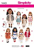 Simplicity Creative Patterns 1443 Doll Clothes, 18-Inch