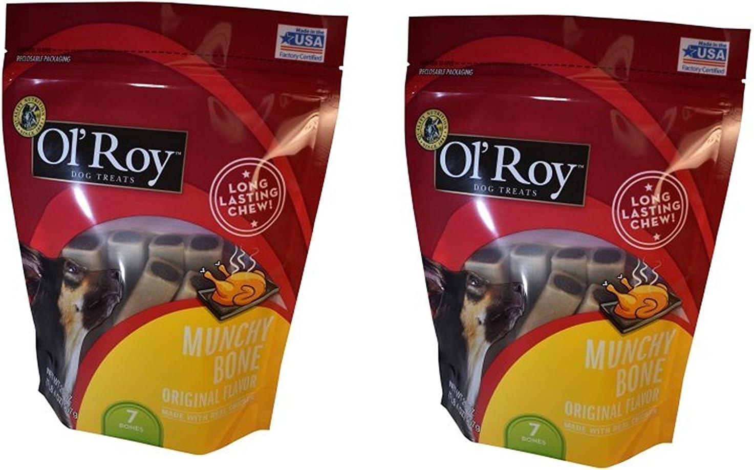 Ol' Roy Muncy bones with chicken 20oz 2 pack