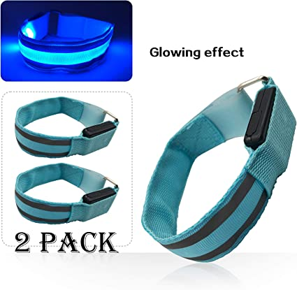 GRN-2-Pack LED Slap Armband great 4 exercise ULTRA VISIBILITY for SAFETY//FUN