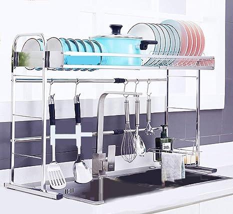 Rack de secado de 1 nivel para la cocina, acero inoxidable ...