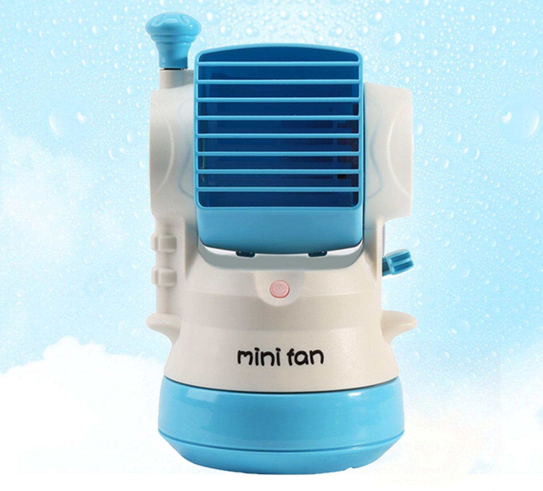 Amazon.com: USB Water Fan, Portable Watering Misting Fan, Desktop Fan With  Powerful Cooling Air, Mini Personal Fan For Tableu0026Laptop (BLUE) By UPmagic:  Home ...